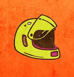 Helmet Cartoon vector image vector image