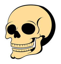 Human skull icon cartoon vector