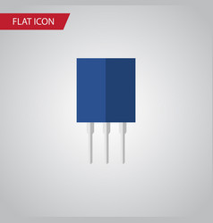 isolated recipient flat icon receptacle vector image