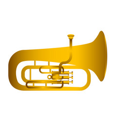 Isolated tuba musical instrument vector