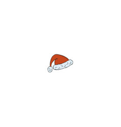 santa hat icon isolated on white background vector image