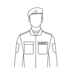 Soldierprofessions single icon in outline style vector