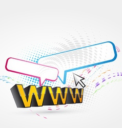 www text vector image