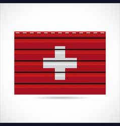 Switzerland siding produce company icon vector image