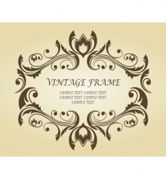 Vintage frame in victorian style vector