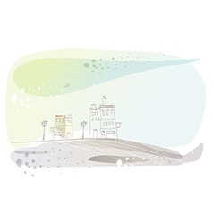Stylized town sketch vector