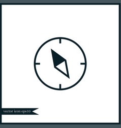 Compass icon simple vector