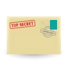 secret correspondence vector image
