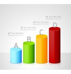 Infographic template with colorful cylinders vector