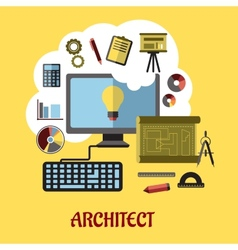 Architect or education concept vector