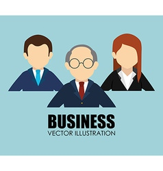 Business design over blue background vector