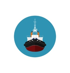 Icon tugboat for mooring of other courts vector