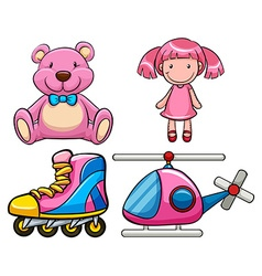 Pink toys vector