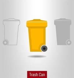 Trashcan icon set vector