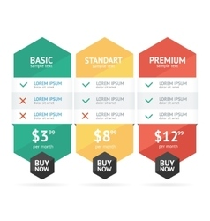 Pricing List vector image