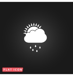 Rainy season flat icon vector