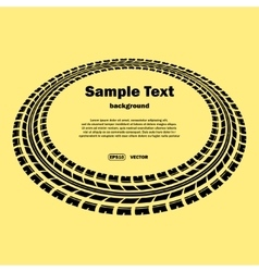 Circle tire track on yellow vector image