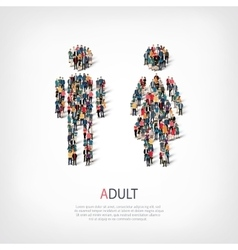 Adult people symbol vector