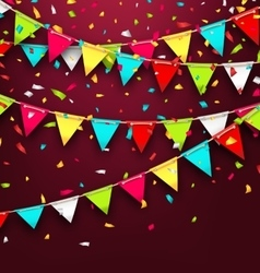 Holiday background with colorful bunting and vector