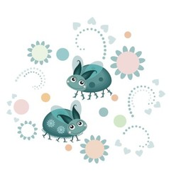 Flowers and bugs vector image