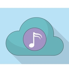 Cloud and music note icon music online and vector
