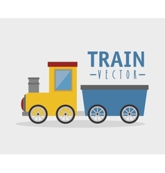 Toy train isolated icon design vector