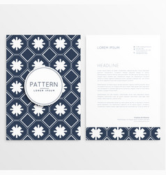abstract letterhead pattern template vector image vector image