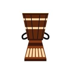 Australian ethnic drum icon flat style vector