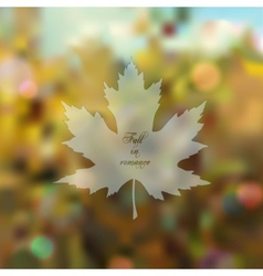 Blurred romantic fall background vector