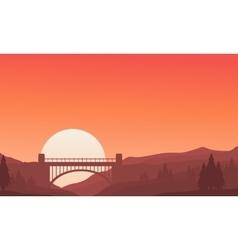 Bridge on background landscape vector