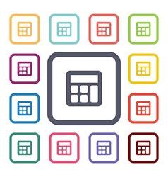 Calculator flat icons set vector