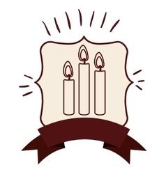 Candle inside frame design vector