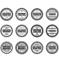 Collection award stamp for design studios vector image vector image