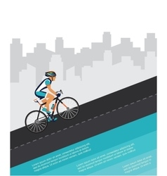 cycling competition race poster cyclist riding vector image vector image