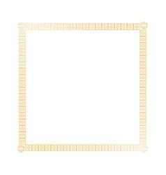 Decoration square golden frame design image vector
