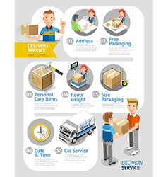 Delivery Service Conceptual Isometric Flat Style vector image vector image