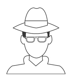 Detective or spy icon vector