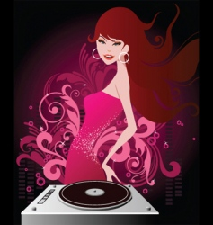 dj beauty vector image vector image