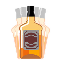Drunkenness whiskey bottle seeing double drink vector