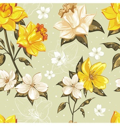 Elegant stylish spring floral seamless pattern vector image vector image