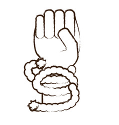 Hand with rope vector