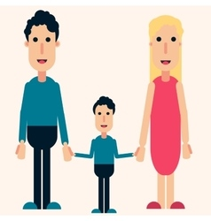 Happy family color love friendship boy vector image vector image