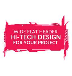 hi-tech wide element vector image