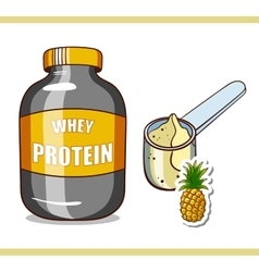 Jar with pineapple protein vector