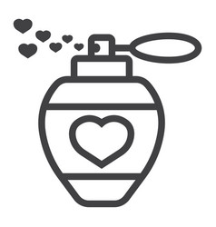 love perfume with hearts line icon valentines day vector image