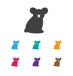 of zoology symbol on koala vector image vector image