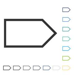 Pointer right icon vector