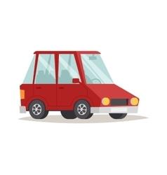 Red cartoon car design flat vector image