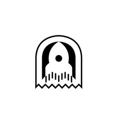 Rocket icon logo template vector