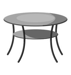 Round table icon gray monochrome style vector